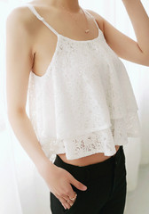 Double Layers Crop Top