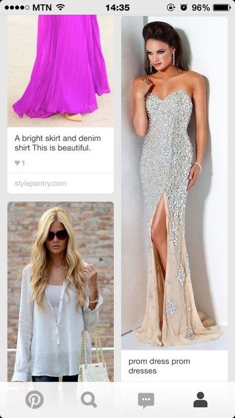 dress prom dress strapless shiny dress