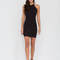 Easy to be knotty open back minidress black white khaki red - gojane.com