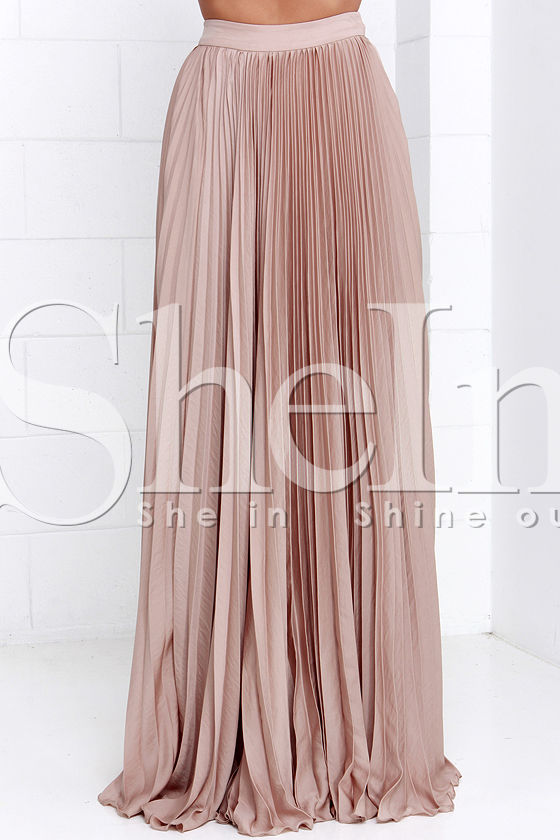Pleated Maxi Skirt -SheIn(Sheinside)