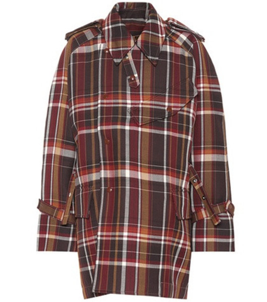Acne Studios Checked wool coat in brown