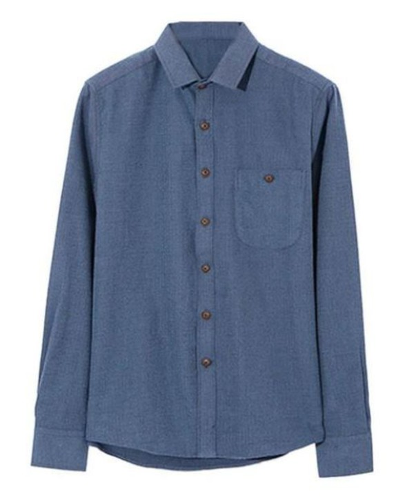 navy shirt long sleeve shirt slim fit shirt blue shirt www.ustrendy.com