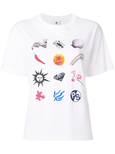 Ps By Paul Smith - 'Mixed Charm' print T-shirt - women - Cotton - M, White, Cotton