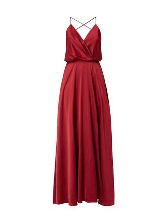 dress prom dress satin v neck slit dress maxi dress red dress red prom dress red