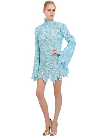 dress lace dress lace cotton blue