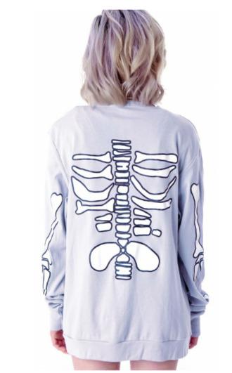 sweater skeleton lavender purple cardigan cute bones