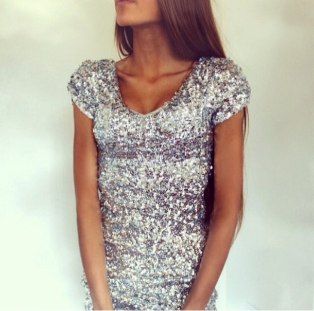 dress silver dress sparkly dress cute dress prom dress sparkle
