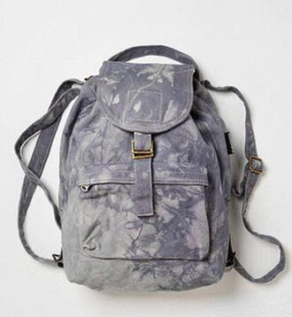 bag backpack pack tiedie dipdie grey back washed grey bag vintage canvas canvas backpack canvas bag vintage bag