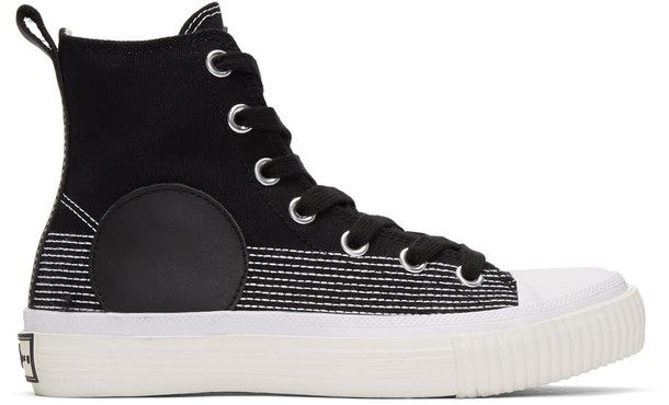 high sneakers black shoes