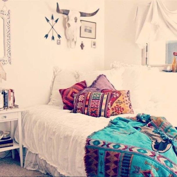 Home Accessory Aztec Boho Pillow Blanket Native American Indie Boho Bedroom Room Accessoires Beach House Dorm