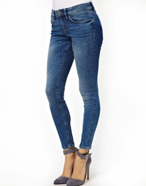 ASOS | ASOS Low Rise Ankle Grazer Jeans in Venice Blue Vintage Wash at ASOS