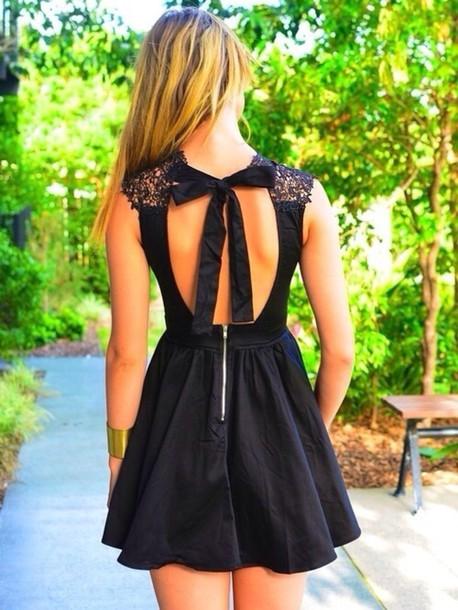 e356de7ad08 dress lace dress brand how much it cost little black dress black lace bow open  back