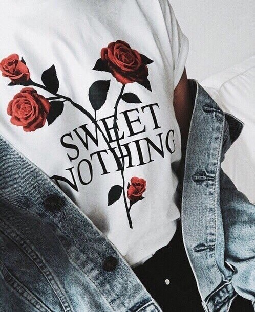 shirt roses white