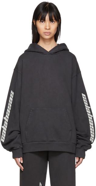 yeezy hoodie black sweater