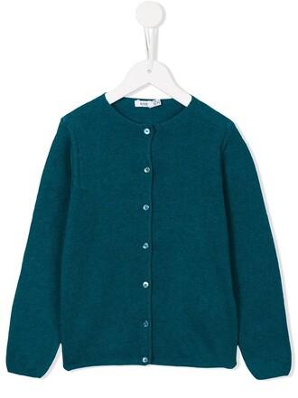 cardigan girl knit toddler blue sweater