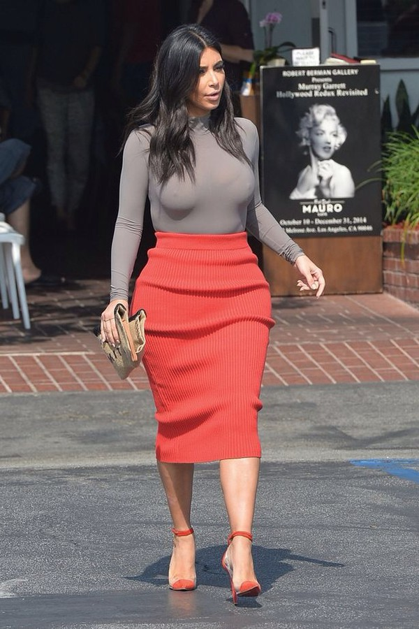 red kim kardashian