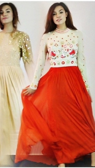 dress red and cream maxi dress maxi prom gown orange blood orange sequins jewls vintage maxi gown gown evening dress marziapie itsmarziapie pewdiepie elegant evening dress