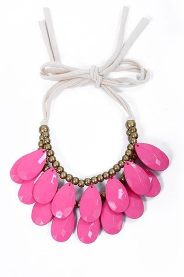 jewels jewelry pink pink necklace matchy necklace statement necklace accessories tumblr girl