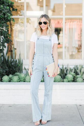 cupcakes and cashmere blogger t-shirt shoes bag jumpsuit denim jumpsuit denim overalls clutch