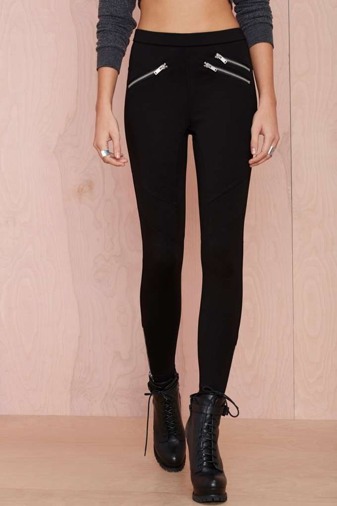 Nasty Gal My Generation Moto Legging