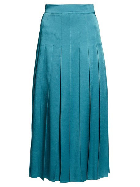 Fendi skirt pleated satin blue