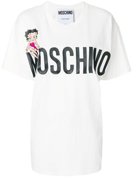 Moschino t-shirt shirt t-shirt oversized women betty boop white cotton top