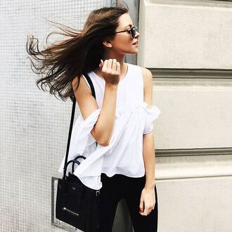 blouse storets off the shoulder white top