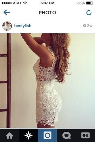 white lace dress lace crotchet white lace