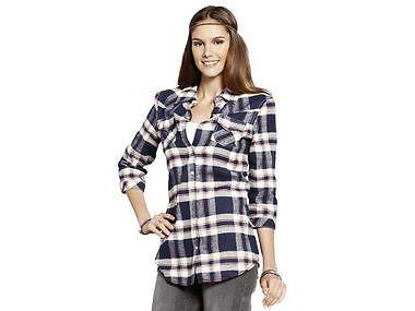 Damen Flanell Tunika Karo Bluse Hemd Longshirt Shirt 100% Baumwolle Neu G.36-44 | eBay