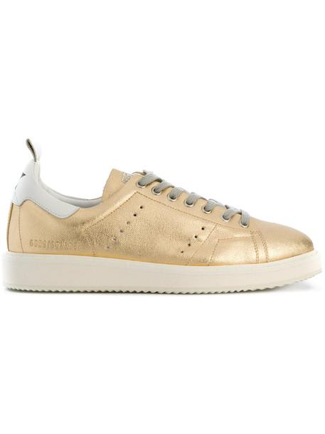 GOLDEN GOOSE DELUXE BRAND women sneakers leather cotton grey metallic shoes