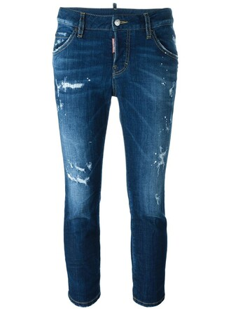 jeans cropped jeans girl cool cropped blue