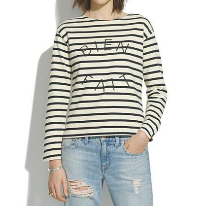 Lux® striped bien fait tee