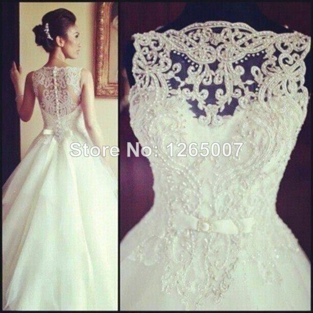 Aliexpress.com : Buy 2014 Boat Neck Nice Applique Beaded Bow Belt Beautiful Ball Gown Tulle Beautiful Princess Wedding Dresses Bridal Gowns from Reliable dress form jewelry stand suppliers on SFBridal