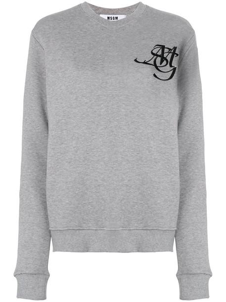 MSGM jumper women cotton grey sweater