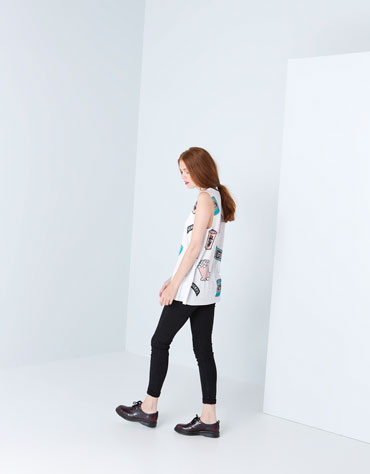 Bershka United Kingdom - Bershka assorted print top