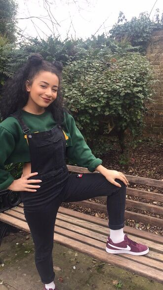 jumpsuit 90s style tumblr tumblr girl tumblr outfit crops tops with overalls