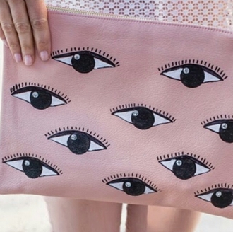 jewels clutch wallet side bag pastel pink ballerina pink makeup bag accessories accessories style girly