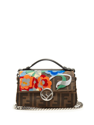 cross jacquard bag brown