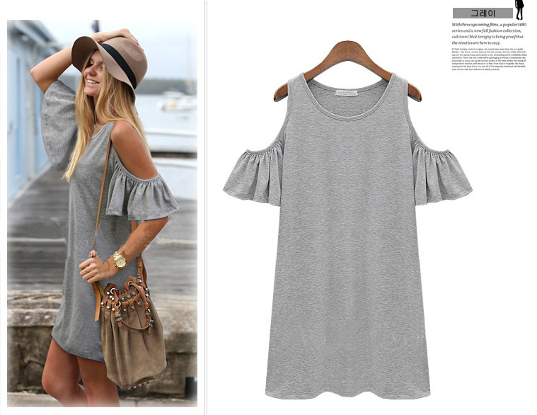 summer dress 2014 woman clothes butterfly sleeve cotton cute strapless dress plus size XXXL novelty t shirt dress LQ4157 | Amazing Shoes UK