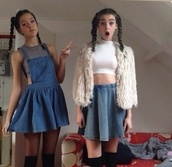 skirt,denim,short,punk,pale,cute,dress,shirt,jacket,fur coat