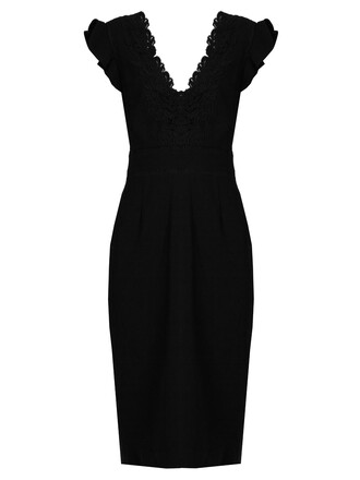 dress embroidered black