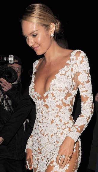 dress candice swanepoel lace nude sexy dress see through dress red one or black