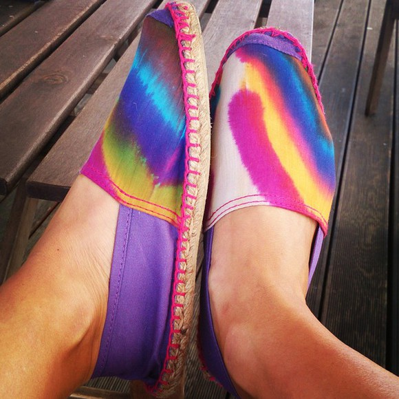 rainbow shoes espadrilles colourful