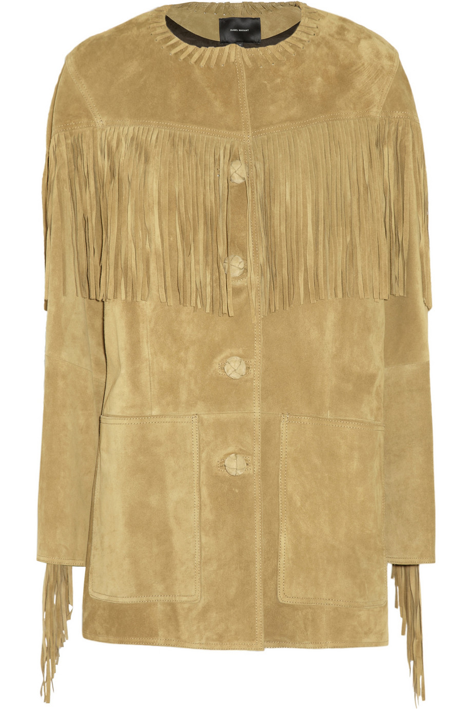 Isabel Marant Miel fringed suede jacket – 60% at THE OUTNET.COM