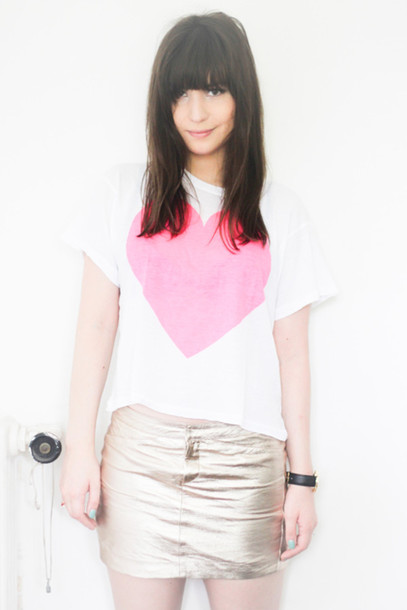 betty heart pink t-shirt white t-shirt