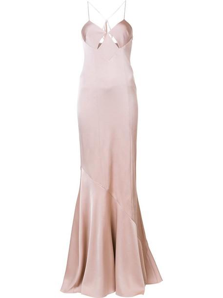 Galvan dress long dress long women spandex nude