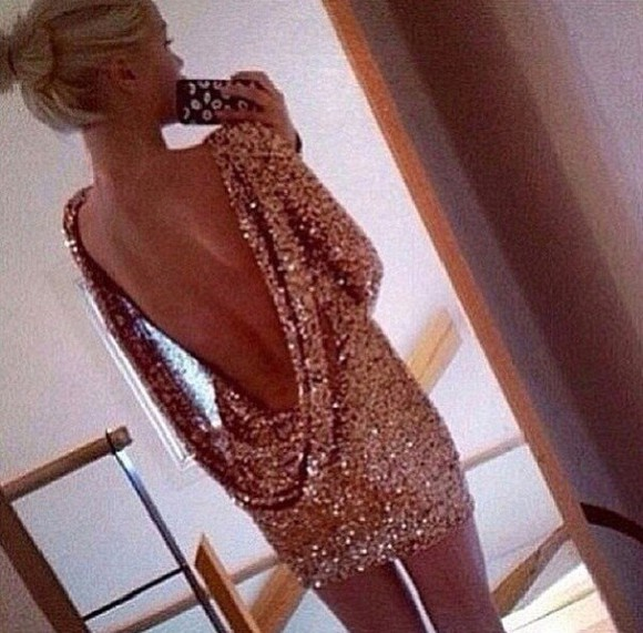 backless dress mini dress long sleeves dress