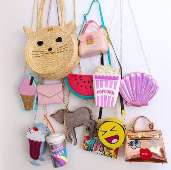bag chain bag shoulder bag pop corn unicorn shell