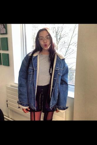 jacket denim jacket denim jacket vintage coat blue jacket winter jacket levi's
