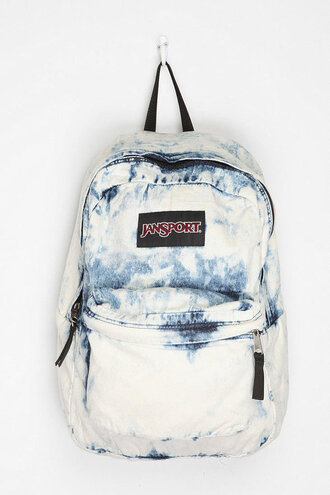 bag jansport blue and white